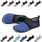 EASTSURE Snorkeling Shoes Water Sport Shoes Aqua Socks for Men Women Beach Swim Surf Yoga Sapphire Blue 40-41