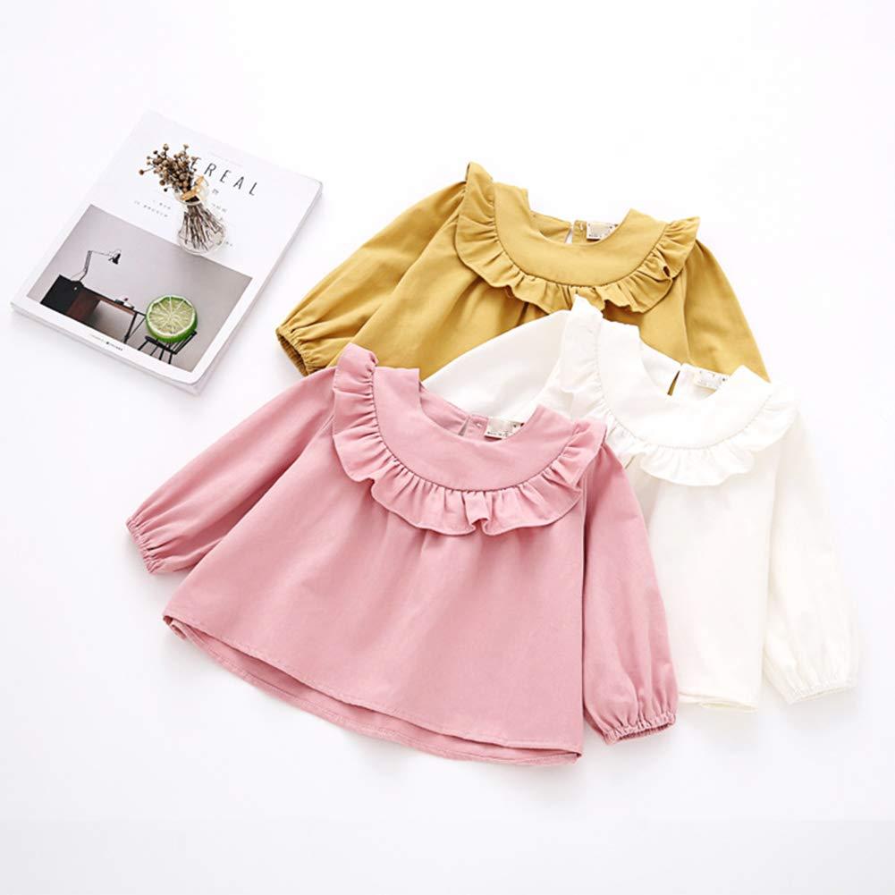 YOHA Baby Girls Spring Autumn Ruffle Top Blouse Long Sleeve Toddler Casual Tops