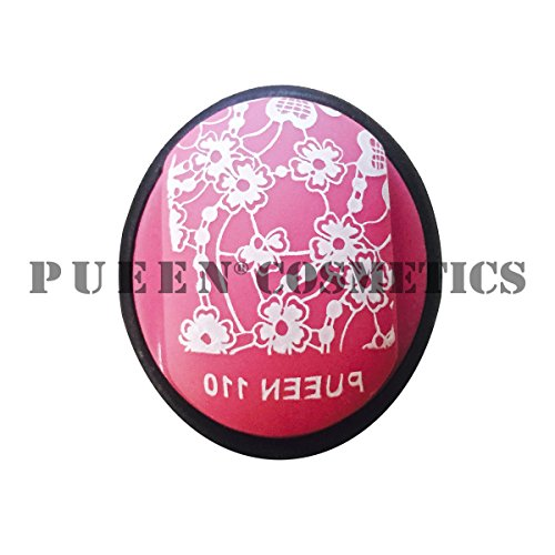 PUEEN Nail Art Double Side Super Soft Squishy Silicone XL Stamper and Scraper Set - Stamping ...