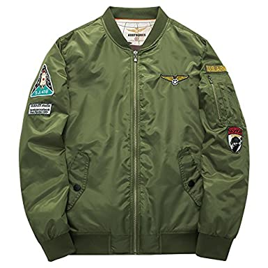 Amazon.com: Bomber Military MA-1 Style Army Tactical ...