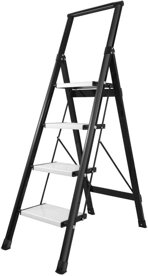 Bseack_store Multifunción 4 Escalera Escalera Plegable Ligero Plegable de la aleación de Aluminio del hogar Escalera Pedal Ampliación de Cubierta de Limpieza/Escalada: Amazon.es: Hogar