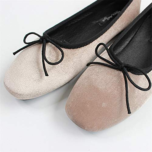 mouth shoes flat comfortable shallow work casual O Satin soft shoes and FLYRCX shoes ballet single velvet shoes bottom shoes pregnant women HqtwxBY