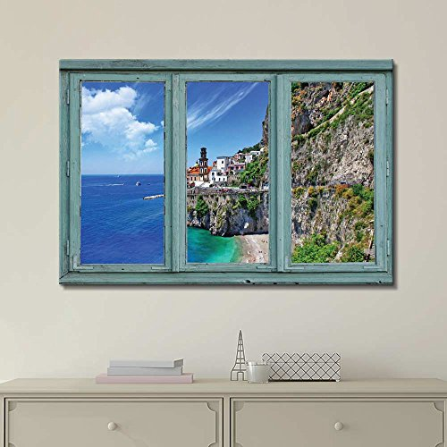 Cliffside Houses Overlooking a Beautiful Ocean View Seaside Homes in Idyllic Setting
