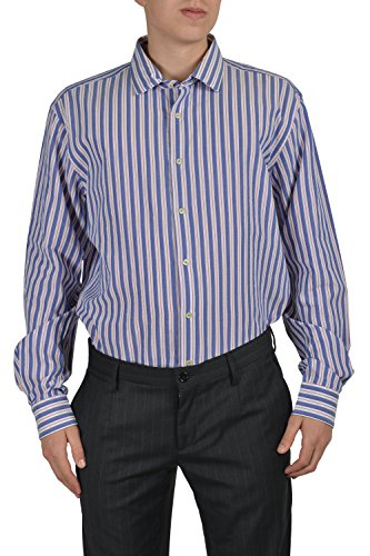 Etro Men's Multi-color Long Sleeve Button Down Dress Shirt US 17.5 IT 45