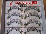 Model 21 False High End Eyelashes No. 6 or 132 10 Pairs