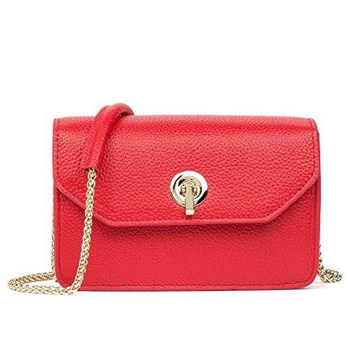 Tiding Cosmetic Bag Sac à bandoulière Girl Sweet Messenger Mesdames Mode Première couche Rouge