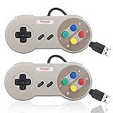 Denmer SNES Retro USB Super Nintendo Controller USB PC Controller Raspberry Pi Controller for Windows PC / MAC / Raspberry Pi (2 Pack)