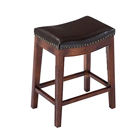 Fine Amazon Com Cylq Solid Wood Saddle Seat Counter Stool Uwap Interior Chair Design Uwaporg