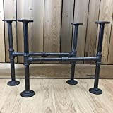 Industrial Iron Pipe DIY Coffee Table Leg Set of Two (2)