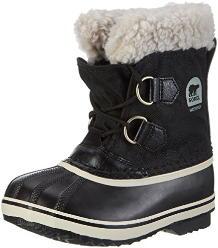 Sorel Yoot Pac Nylon Cold Weather Boot (Toddler/Little Kid/Big Kid), Black, 2 M US Little Kid