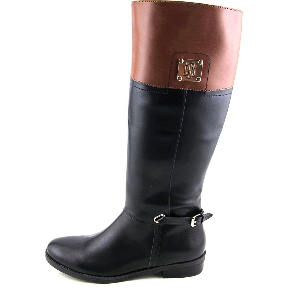 Tommy Hilfiger Womens Xenon2 Black//Tan Boots 7 M