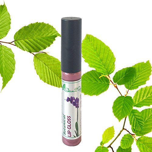 Botanical Healing Lip Gloss (LILAC PLUM) Natural, Organic & Long Lasting! Smooth, Velvety Feel – Dual Purpose - Smells Great! by Skin2Spirit
