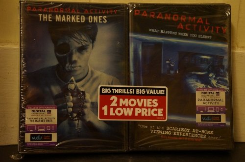 PARANORMAL ACTIVITY THE MARKED ONES and PARANORMAL ACTIVITY 2-Pack DVD Set Includes Vudu digital Ultraviolet (2 Great movies in 1 Set) -
