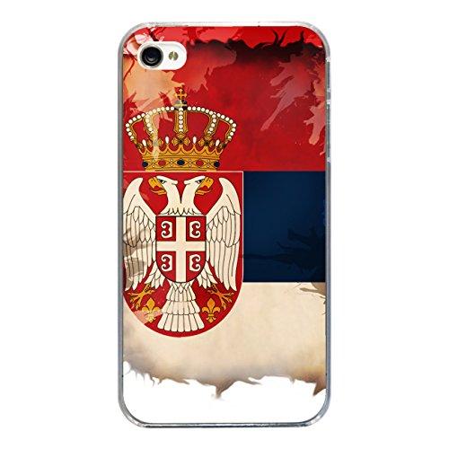 """Disagu Design Case Coque pour Apple iPhone 4 Housse etui coque pochette """"Serbien"""""""
