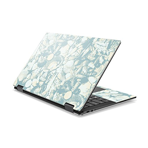 Price comparison product image MightySkins Skin Compatible with DELL XPS 13 9365 2-in-1 (2017) - Blue Seashells / Protective,  Durable,  and Unique Vinyl Decal wrap Cover / Easy to Apply,  Remove,  and Change Styles / Made in The USA