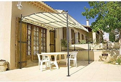 Provence Outillage - Pérgola de hierro forjado (3 x 2,5 cm): Amazon.es: Jardín