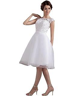 655885c799ac Edith qi Sleeveless Beaded Short Prom Party Dress Cute Wedding Dress ...