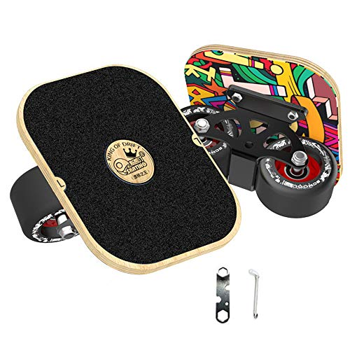 NCBH Drift Skate Plates Adult Beginner Freeline Skates, Portable Runway Drift Board Skateboard Skid Plate High Speed Silent Bearing Drift Board