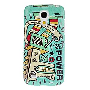 GJY Green Robot Pattern Protective Hard Back Cover Case for Samsung Galaxy S4 Mini I9190