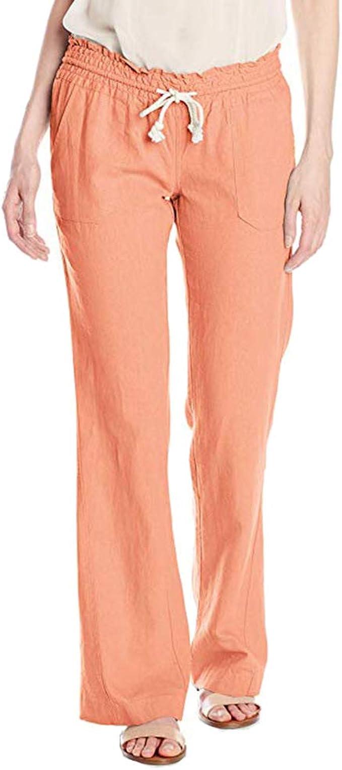 Da Donna Nero Righe Bianche Pantaloni Slim tasche laterali cocktail elastico in vita