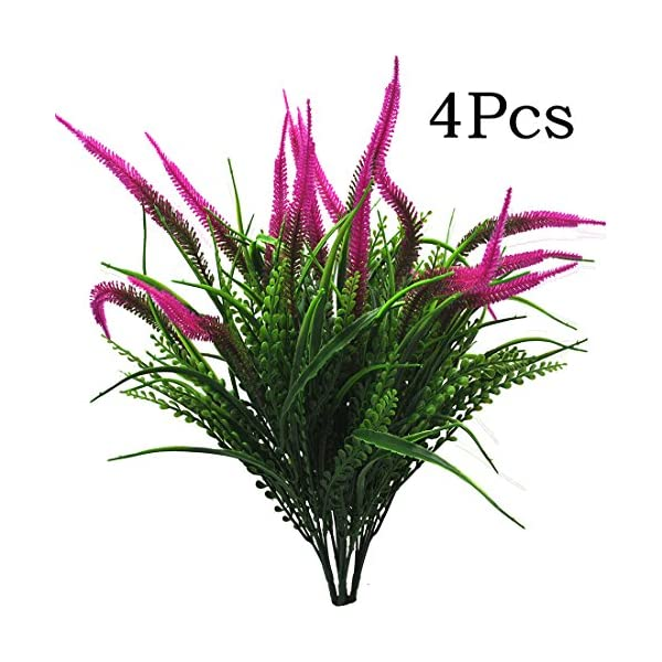Artificial-Plants-Flowers-4pcs-Fake-Outdoor-UV-Resistant-Plants-Faux-Plastic-Greenery-Shrubs-Indoor-Outside-for-Home-Decor-4Pcs