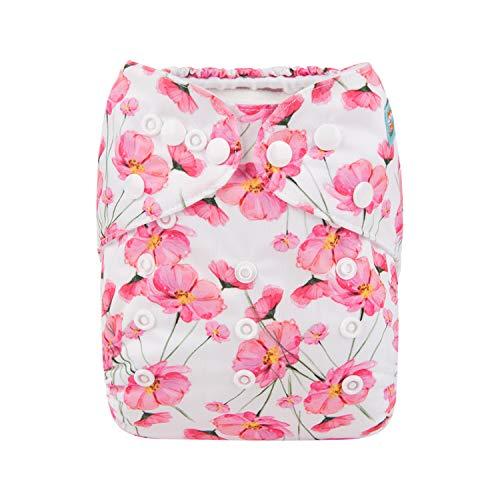 Alva Baby New Design Reuseable Washable Pocket Cloth Diaper Nappy + 2 Inserts (Sakura) H131