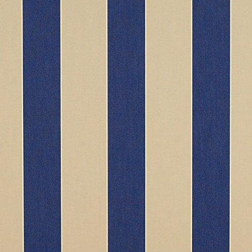- Sunbrella Med/Canvas Block Stripe #4921-0000 Awning / Marine Fabric