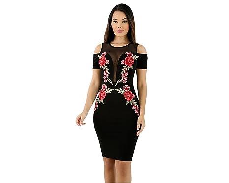 Vestidos Ropa De Moda para Mujer Sexys Cortos Largos Negros De Noche Casuales y Elegantes VE0072