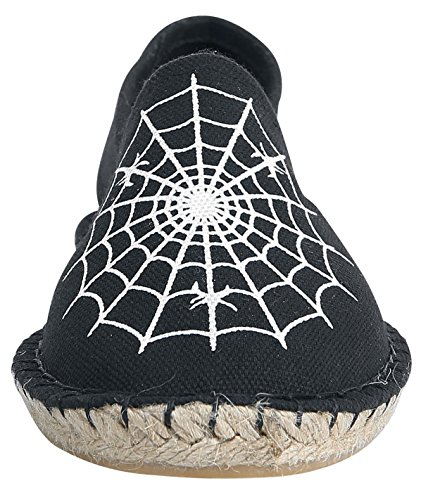 Espadrilles Spider Espadrilles Industrial Nero Colore Punk 6z65ZqwrE