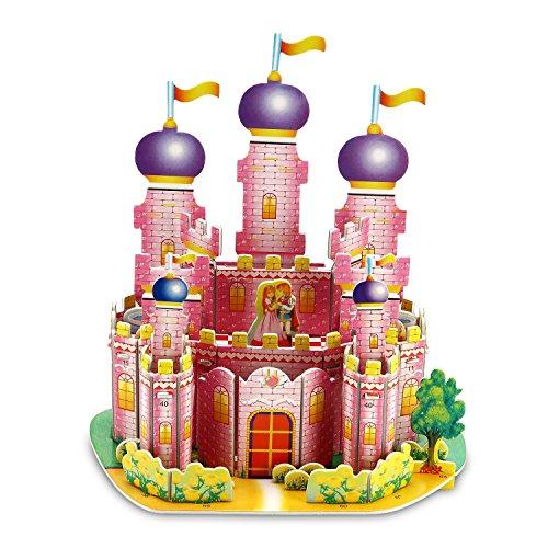 Princess Castle 3D Puzzle Dollhouse, The Best DIY Gift for Children, Toys Game 3d-puzzles