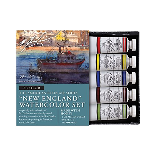 M. Graham & Co. Watercolor Sets Watercolor Sets, Watercolor Sets, New England 5 Color Watercolor Set (Graham Tubes Watercolor)