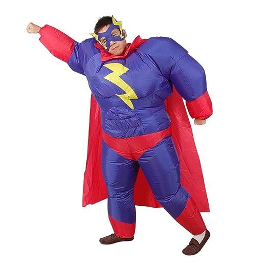 YBBDHD Disfraz De Superhéroe Gordo Inflable para Adultos ...