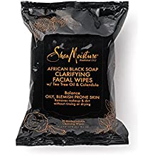 Shea Moisture African Black Soap Facial Wipes, 30 Count