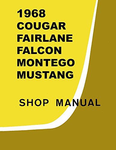 bishko automotive literature 1968 Comet Fairlane Falcon Mustang Shop Service Repair Manual Engine Electrical