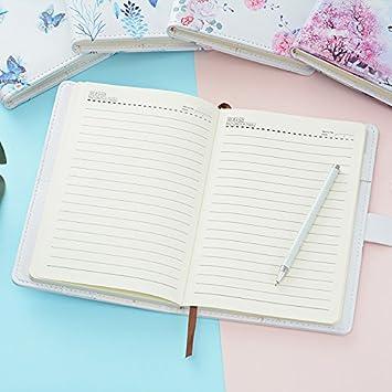 Cuaderno Forrado Secret Diary Sketchbook Organizador A5 tama/ño de encuadernaci/ón de Alambre Diario de Moda 150x215mm Ai-life Creative PU Leather Password Notebook