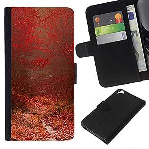 All Phone Most Case / Oferta Especial Cáscara Funda de cuero Monedero Cubierta de proteccion Caso / Wallet Case for HTC Desire 820 // Plant Nature Forrest Flower 97