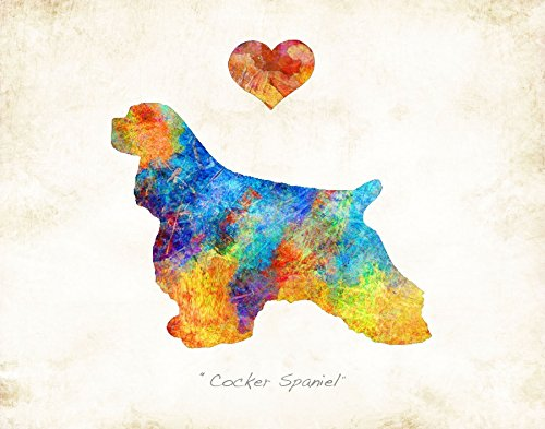 Water Spaniel Dog Art (COCKER SPANIEL Dog Breed Watercolor Art Print by Dan Morris)