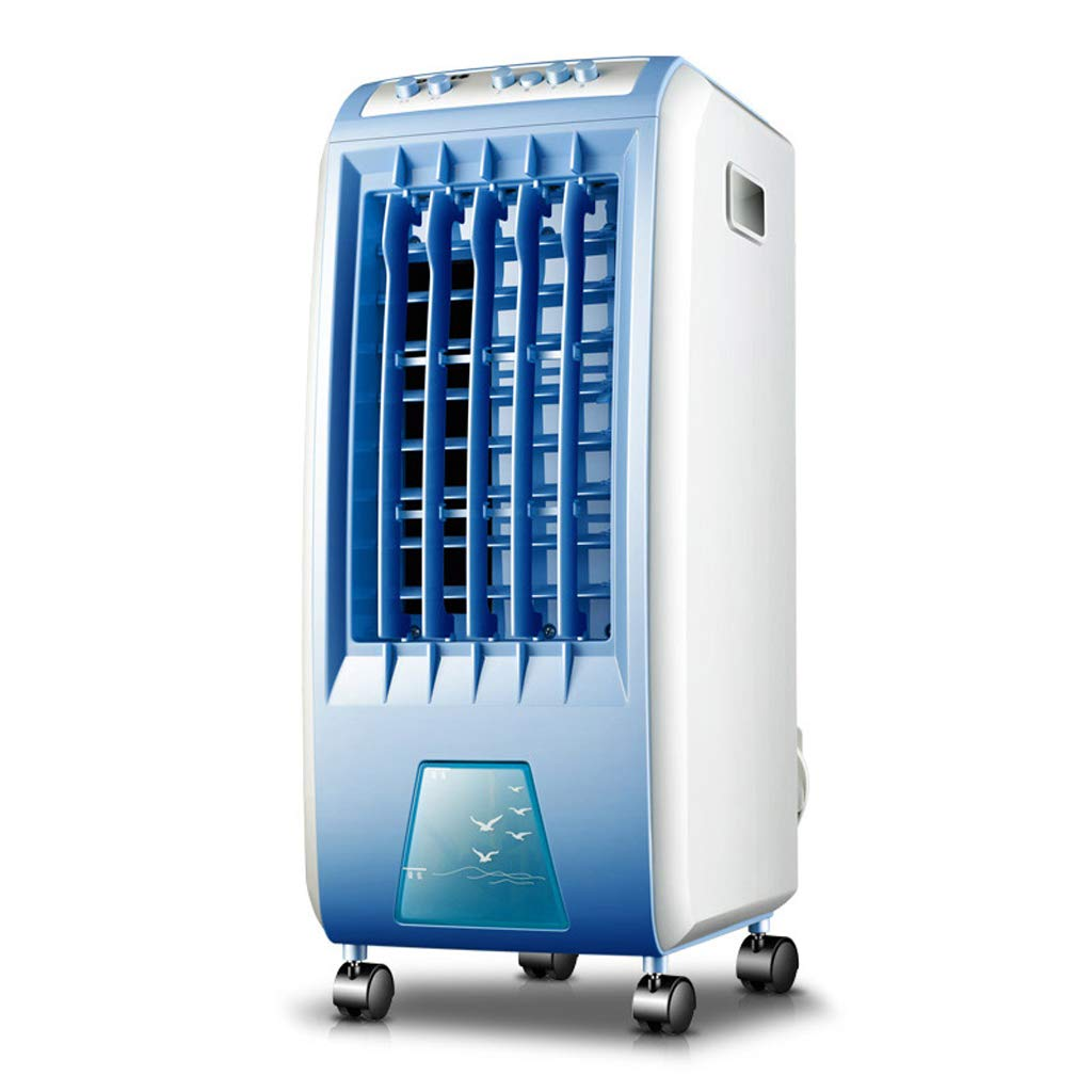 Mano Home 6L Water Tank Large Capacity Vertical Wind Type air Cooler Portable Mobile Small air Conditioning Home Dormitory Indoor Cold Fan Refrigerator (Color : Blue, Size : 2725.656.5cm)