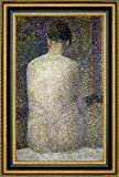 """This 19.25"""" x 27.25"""" premium giclee canvas art print of Pose From The Back by Georges Seuratis meticulously created on artist grade canvas utilizing ultra-precision print technology and fade-resistant archival inks.Every detail of the artwork is re..."""
