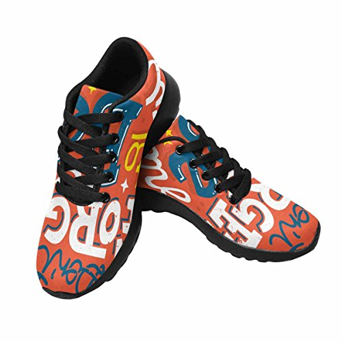 Interestprint Donna Casual Sportivo Soft Road Running Walking Shoes Tipografia Poster Motivazionale Non Dimenticare Di Essere Fantastico Multi 1