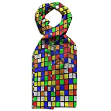 Nice Rubik's Cube World Children Scarf Shawl Lightweight Scarves Double Faced Printed For Decor Coats