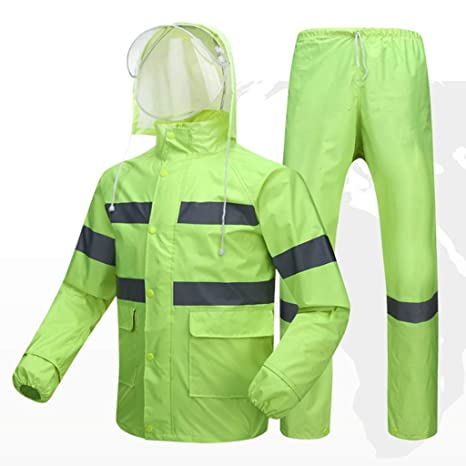LLHYTT Traje Impermeable Impermeable, Hombres y Mujeres ...