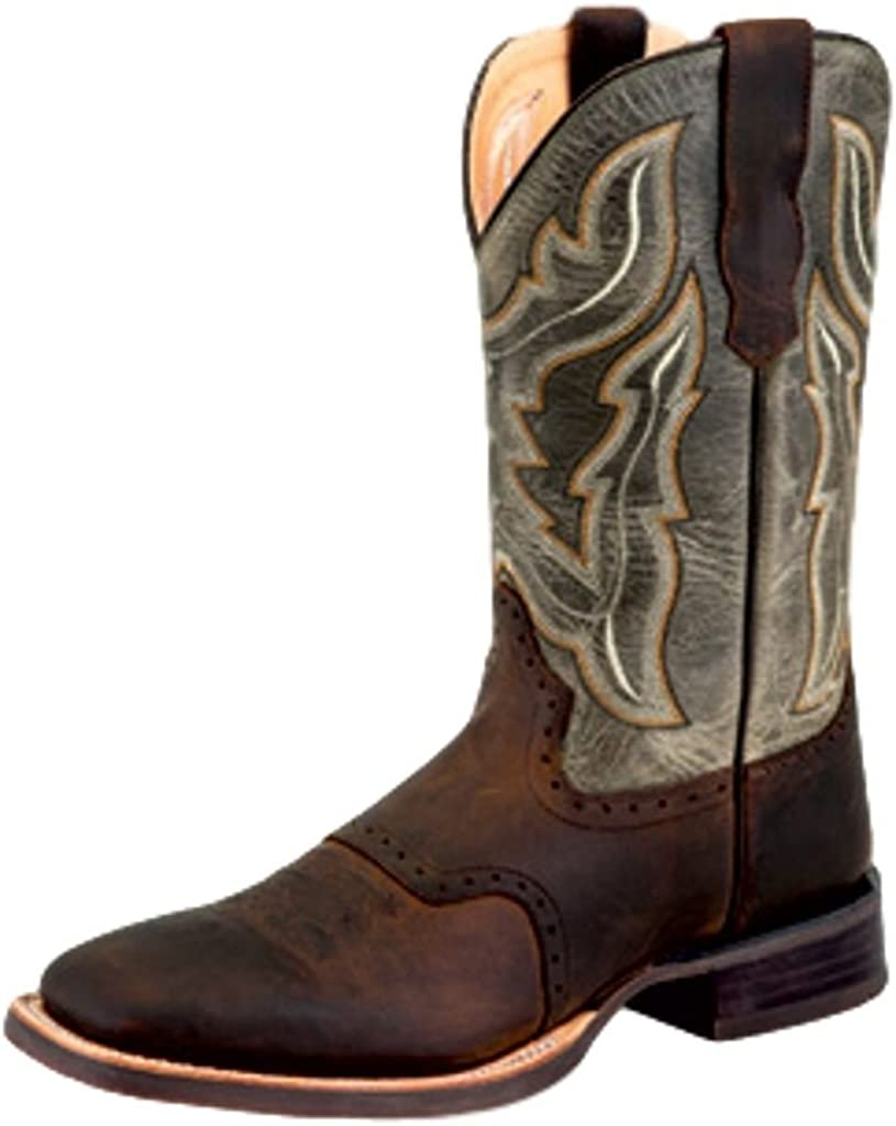 Old West Men's Leather Broad Square Toe