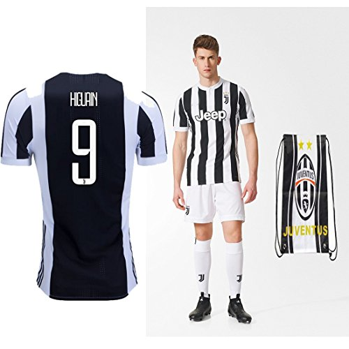 Juventus Paulo Dybala Higuan 2017 2018 17 18 Kid Youth Ages 4 to 12 Yrs Old Home REPLICA Jersey Kids Kit : Shirt, Short, Socks, Bag (G. Higuain Home, Size 22 (5-6 Yrs Old Approx.))