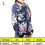Wattern Women Zip Floral Printed Short Coat Jacket Long Sleeve