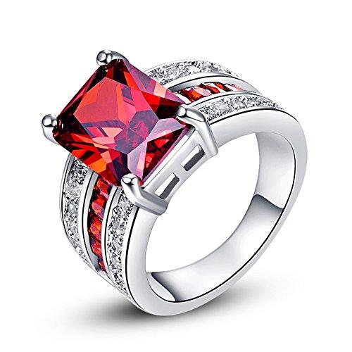 Garnet January Birthstone Ring - 6