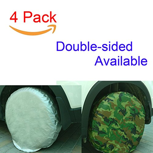 Tire Covers Set of 4 Waterproof Sun Protectors for 25