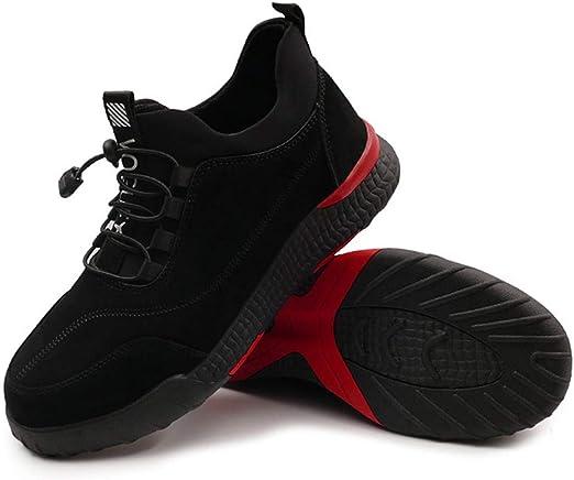 Syfinee - Zapatos de Trabajo para Hombre, Uso intensivo, Antideslizantes, Transpirables, Caja Fuerte Protectora, 45: Amazon.es: Hogar