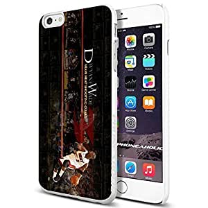 Basketball NBA Dwyane Wade 3 Miami Heat , , Cool iphone 5c Smartphone Case Cover Collector iphone TPU Rubber Case White [By PhoneAholic]