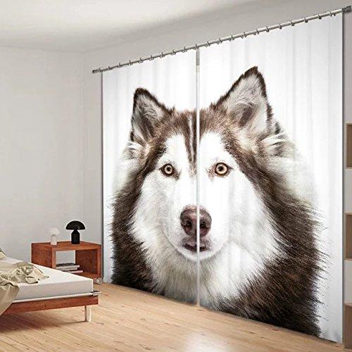 Perros 3d impresora Blackout ventana cortinas para ropa de ...
